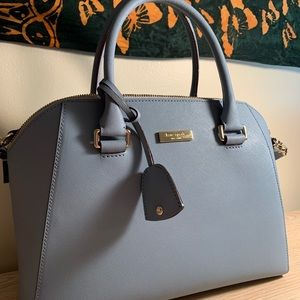 Baby blue Late Spade medium satchel